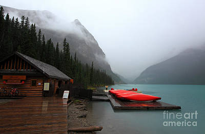 Lake Louise In Banff Alberta Poster