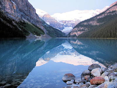 Poster featuring the photograph Lake Louise Morning by Gerry Bates