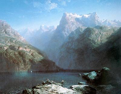 Lake Lucerne Poster by Alexandre Calame