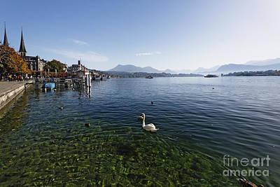 Lake Lucerne Shore Scenic Poster