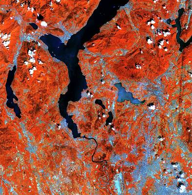Lake Maggiore Poster by European Space Agency/copernicus Sentinel Data (2015)