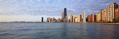 Lake Michigan Chicago Il Poster by Panoramic Images