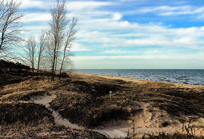 Poster featuring the photograph Lake Michigan Shoreline by Lauren Radke