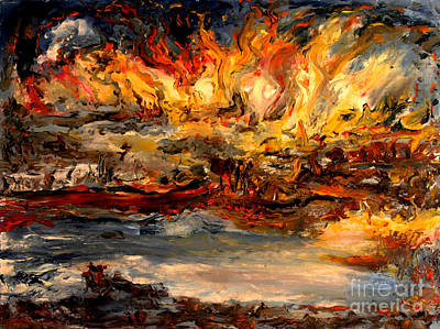 Lake Of Fire Poster by Arthur Robins