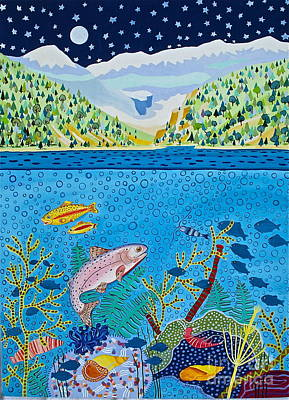 Lake Of Little Fishes Poster
