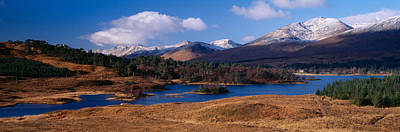 Lake On Mountainside, Loch Tulla Poster by Panoramic Images