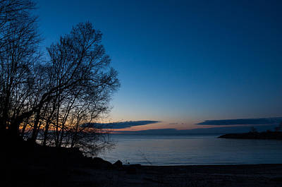 Poster featuring the photograph Lake Ontario Blue Hour by Georgia Mizuleva