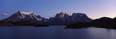 Lake Pehoe In Torres Del Paine National Poster