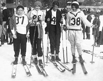 Lake Placid Ski Race Winners Poster