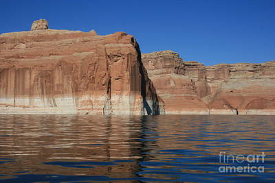 Lake Powell Cliffs Poster by Marty Fancy