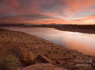 Lake Powell Dawning Poster by Mike  Dawson