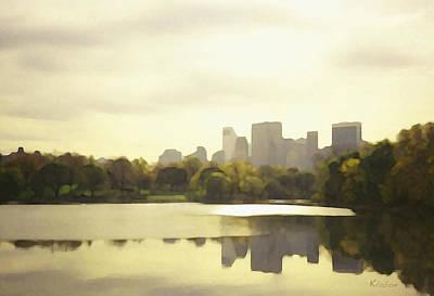 Lake Reflection Skyline 3 Poster