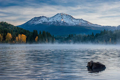 Lake Siskiyou Morning Poster