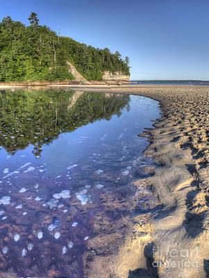 Lake Superior Shoreline At Pictured Rocks Poster