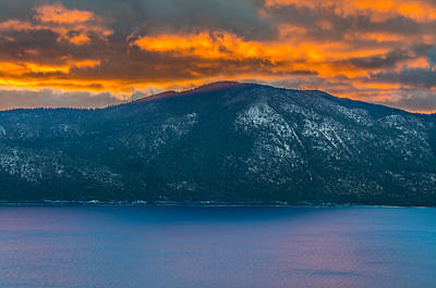 Lake Tahoe Sunrise Poster by Marc Crumpler