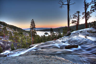 Lake Tahoe Sunset At Eagle Falls Poster by Shawn Everhart