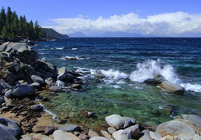 Poster featuring the photograph Lake Tahoe Wild  by Sean Sarsfield