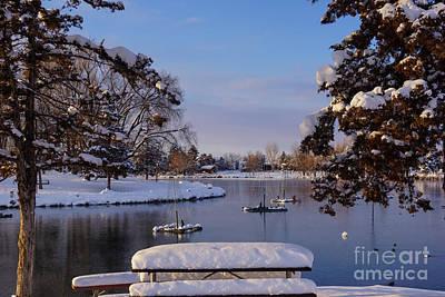 Lake View Poster by Gloria Pasko