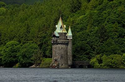 Poster featuring the photograph Lake Vyrnwy Straining Tower by Stephen Taylor
