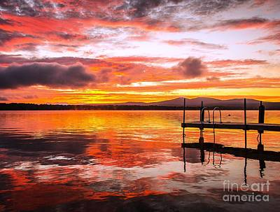 Lake Winnisquam Sunrise Poster