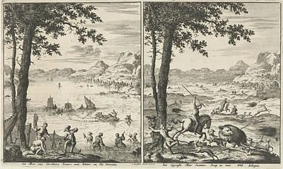Lake Zirknitz In Summer And Winter, Jan Luyken Poster