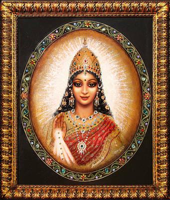 Lakshmi Goddess Of Abundance Poster by Ananda Vdovic