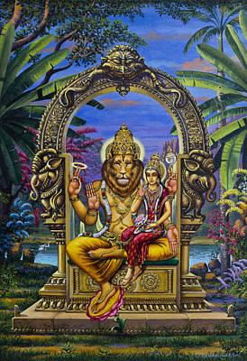 Lakshmi Narasimha Poster by Vrindavan Das
