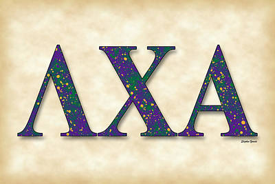 Lambda Chi Alpha - Parchment Poster by Stephen Younts