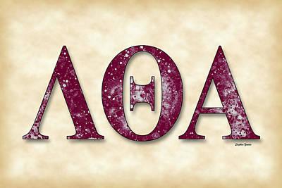 Lambda Theta Alpha - Parchment Poster