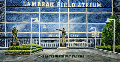 Poster featuring the painting Lambeau by Thomas Kuchenbecker