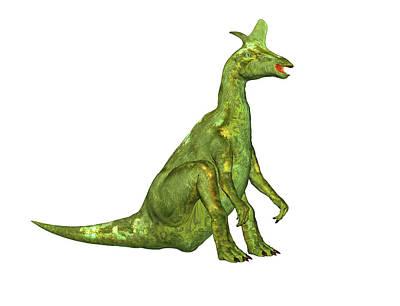Lambeosaurus Dinosaur Poster by Friedrich Saurer