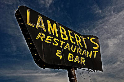 Poster featuring the photograph Lambert's Restaurant And Bar by Andy Crawford
