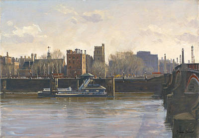 Lambeth Palace Oil On Canvas Poster by Julian Barrow