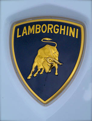 Lamborghini Car Badge Poster by John Colley