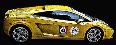 Lamborghini Gallardo Side Study Poster by Samuel Sheats