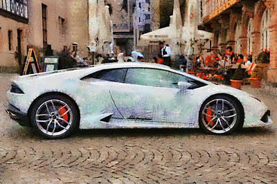 Lamborghini Huracane Lp 610-4 Parked In The City Poster