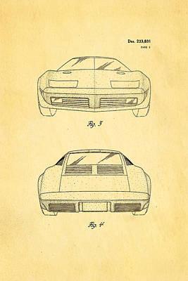 Lamborghini Style Gmc Automobile 2 Patent Art 1974 Poster