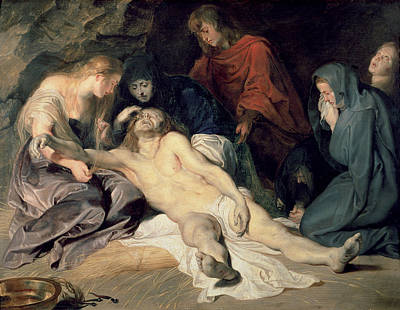 Lament Of Christ Poster by Peter Paul Rubens