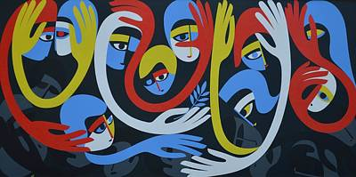 Lamentation And Resolution, 1983 Acrylic On Board Poster