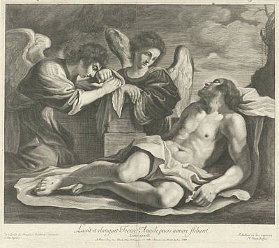 Lamentation Of Christ By Angels, Nicolas Pitau Poster by Nicolas Pitau (i) And Jacques Van Merle