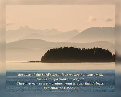 Lamentations 3 22-23 Poster by Dawn Currie