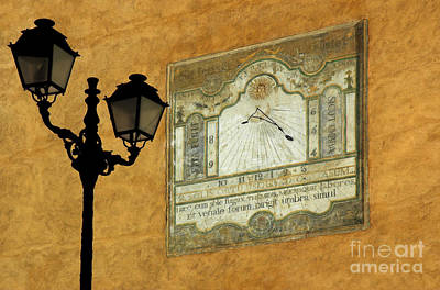 Lamp And Sundial Poster by Colin Woods