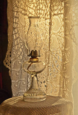 Poster featuring the photograph Lamp By The Window by Lena Wilhite