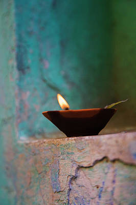 Lamp In A Little Shrine Poster