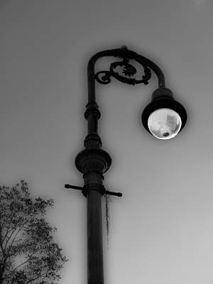 Poster featuring the photograph Savannah Lamp Post by Frank Bright