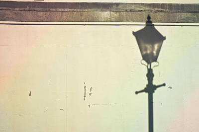 Lamp Post Shadow Poster by Tom Gowanlock