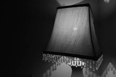 Lamp Shade Bw Poster