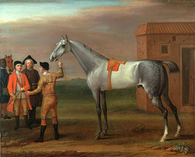 Lamprey, With His Owner Sir William Morgan, At Newmarket Poster