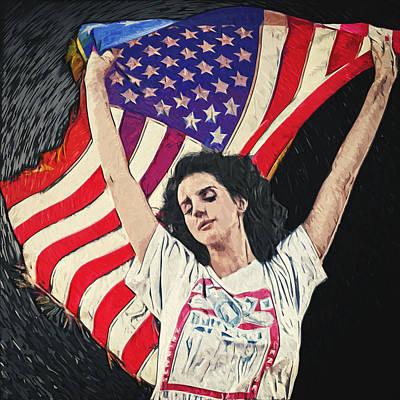 Lana Del Rey Poster by Taylan Apukovska