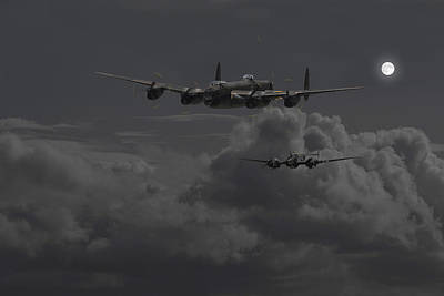 Lancaster- Night Hunter Poster by Pat Speirs